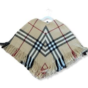 Burberry Fringed Poncho